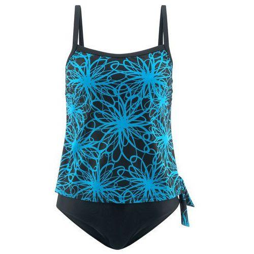 fc9ed36eaaca Kostium kąpielowy minimizer na fiszbinach niebieskozielony morski - czarny  marki Bonprix