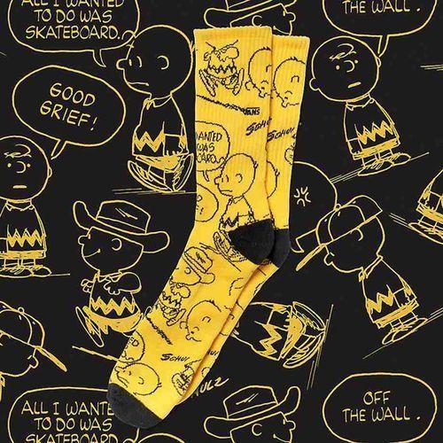 Cena fabryczna duża obniżka klasyczny styl Skarpetki - vans x peanuts crew (9.5-13, 1p) charlie brown ...