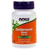 Kapsułki Now Foods Goldenseal Root (Gorzknik kanadyjski) 500 mg - 50 kapsułek