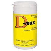Tabletki D-MAX 10mcg x 90 tabletek do żucia o smaku truskawkowo-malinowym