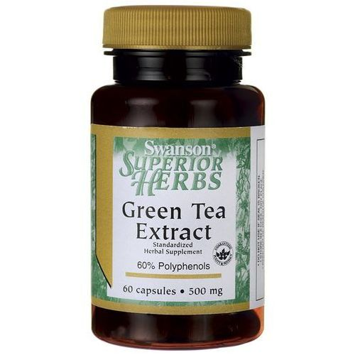 Swanson Green Tea Extract 500mg 60kaps Zielona Herbata - suplement diety
