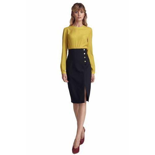 Czarna spódnica z wysokim stanem - sp56 marki Nife