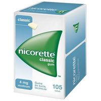 Pastylki Nicorette, guma do żucia, 4 mg, 105 szt