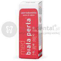 BIAŁA PERŁA Med Periodontitis 75ml enzymatyczno ziołowa pasta do zębów przeciw parodontozie, 03916