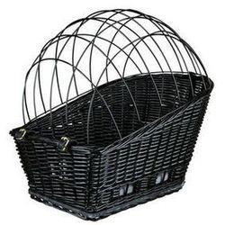 kosz wiklinowy na bagażnik rowerowy czarny marki Trixie