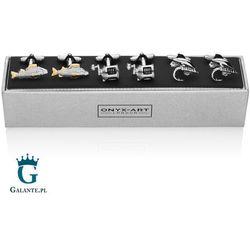 Spinki do krawatów i mankietów Onyx-Art Galante