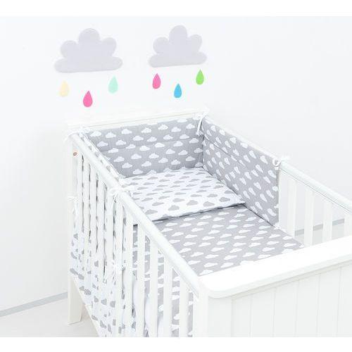 ochraniacz do łóżeczka 60x120 chmurki szare na bieli / chmurki białe na szarym marki Mamo-tato