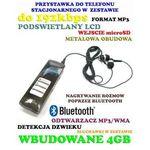 Spy elektronics ltd. Profesjonalny cyfrowy rejestrator dźwięku (4gb) + bluetooth + zapis rozmów tel. + mp3 + vox itd.