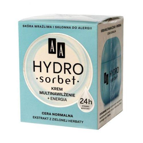 AA Hydro Sorbet multinawilżenie + energia, 50 ml. Krem z ekstraktem z zielonej herbaty cera normalna - AA Cosmetics OD 24,99zł DARMOWA DOSTAWA KIOSK R