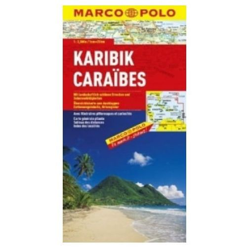 Karaiby. Mapa samochodowa, składana 1:2 500 000. Marco Polo, MARCO POLO