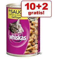 10 + 2 gratis! puszki, 12 x 400 g - łosoś w galarecie marki Whiskas