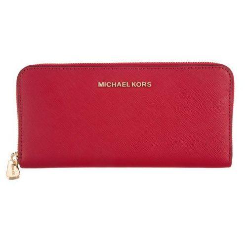 Michael kors jet set travel portfel czerwony uni