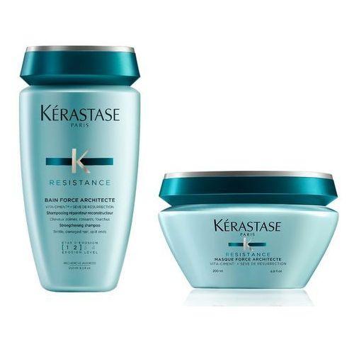 Kerastase force architecte [1-2] | zestaw odbudowujący do włosów: kąpiel 250ml + maska 200ml