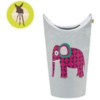 casual label - kosz na zabawki lub pranie wildlife słoń marki Lassig