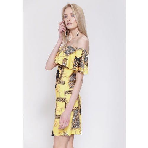 Żółta Sukienka Gloria, kolor żółty