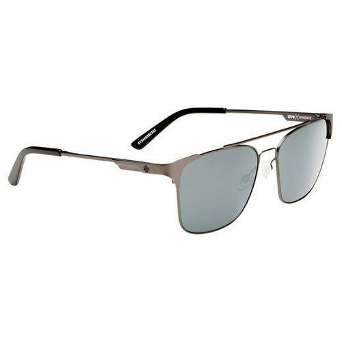 Okulary słoneczne wingate matte gunmetal - happy gray green w/ silver mirror marki Spy