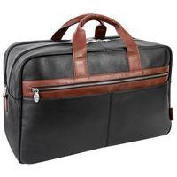 """Skórzana torba biznesowa na laptopa mcklein wellington 21"""" czarna"""