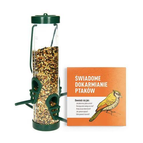 Odstraszanie Karmnik dla ptaków na zimę transparentny. tuba na ziarno dla ptaków. (8711295800498)