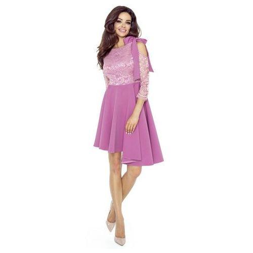 Koronkowa sukienka z asymetrycznym dołem, M50190_1_s