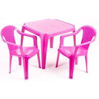 Grand Soleil Stolik i dwa krzesła dla dzieci, różowe