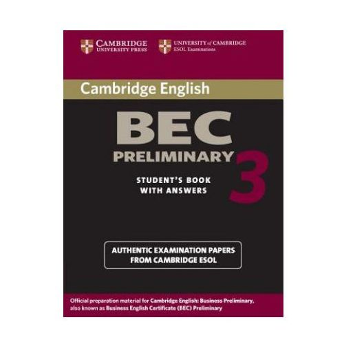 Camb BEC 3 Prel SB w/ans, Cambridge University Press