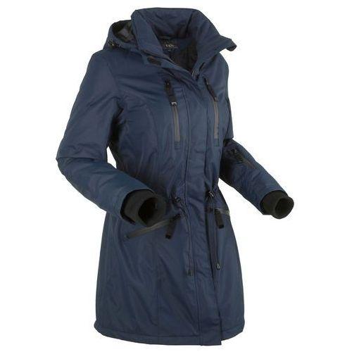 Długa kurtka funkcyjna outdoorowa bonprix ciemnoniebieski