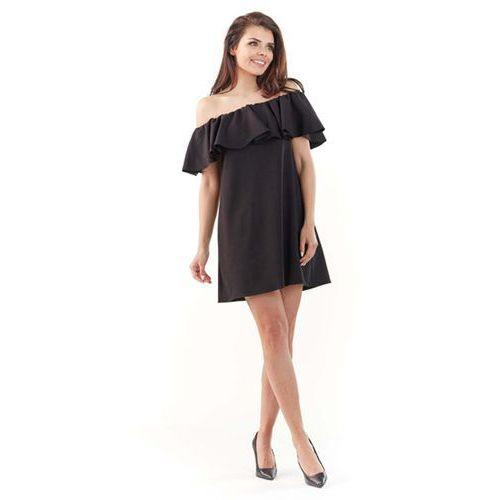 c3327b6c404f5 ... Lou-Lou · Czarna Wyjściowa Sukienka Mini Typu Hiszpanka, WL065bl.  Czarna Wyjściowa Sukienka Mini Typu Hiszpanka, WL065bl - Foto