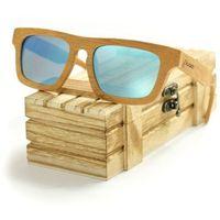 Drewniane okulary przeciwsłoneczne Niwatch Taurus Blue