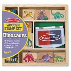 Melissa & doug Drewniane pieczątki stemple dinozaury 11633