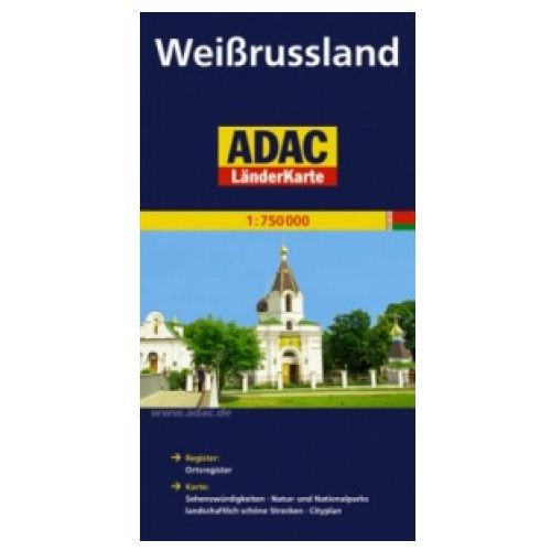 Weissrussland. ADAC LanderKarte 1:750 000 (1 str.)