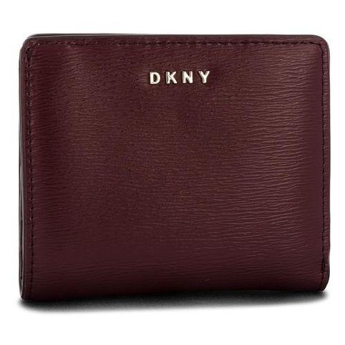 6dcceaa79792a Dkny Mały portfel damski - bryant bifold wallet r83z3657 blood red xod