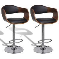 regulowane stołki barowe z imitacji skóry oparciem 2 szt marki Vidaxl