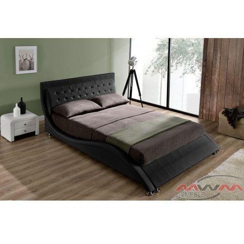 łóżko Tapicerowane Do Sypialni 140x200 1866 Czarne Meblemwm