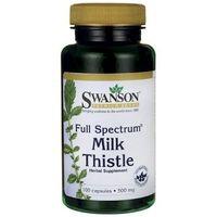 Kapsułki SWANSON Full Spectrum Milk Thistle (Ostropest plamisty) 500mg x 100 kapsułek