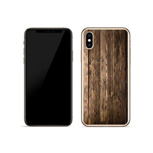 db5e044f6870c2 Apple iPhone XS - etui na telefon Foto Case - drewniane deski - Fotografia  produktu