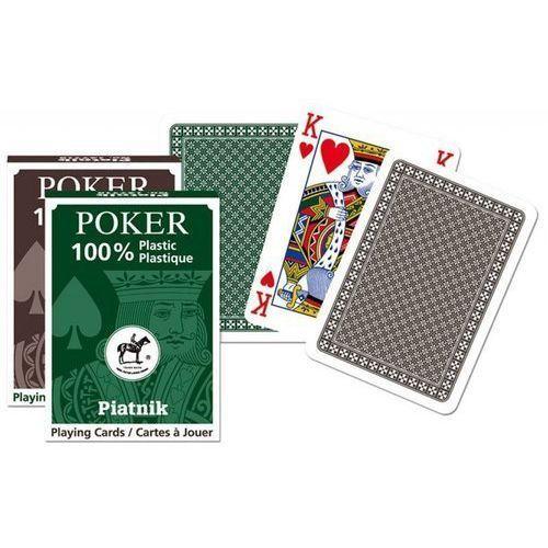 Karty pojedyncze talie plastikowe Poker