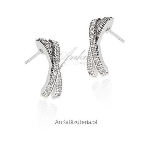 Kolczyki srebrne cyrkonie Anka biżuteria