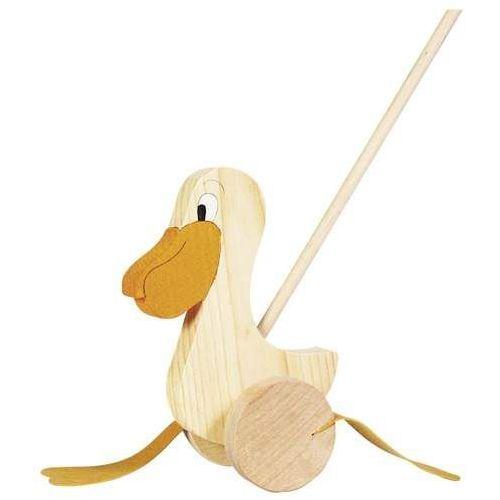 Zabawka do pchania na kółkach, pan pelikan Goki