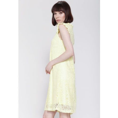 Żółta Sukienka You Are Not There, kolor żółty