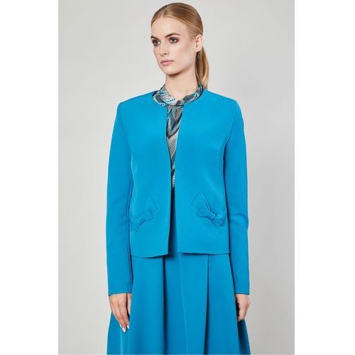 4b20b9dd3c146 Click fashion Marynarka cerro turkus - - Galeria Click fashion Marynarka  cerro turkus -