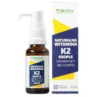 Krople Witamina K2 MK-7 z natto krople (MyVita) 20ml