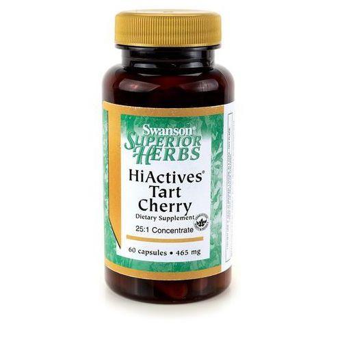 Swanson HiActives Tart Cherry 465mg 60kaps Wiśnia Ekstrakt - suplement diety