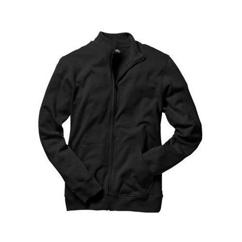 Bluza rozpinana ze stójką czarny, Bonprix, S-XXL