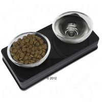 Catit Design Glass Diner, czarny - 2 x 200 ml