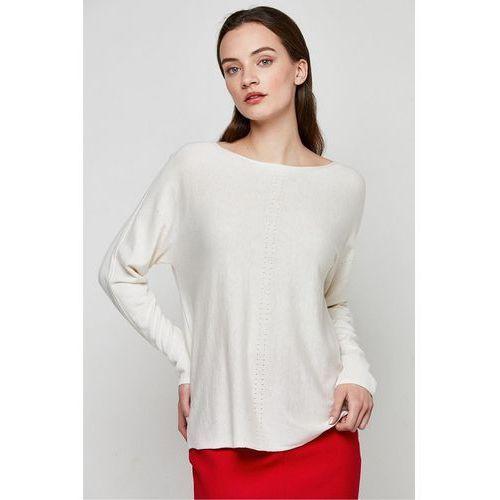 Kremowa bluzka z jedwabiu i kaszmiru - Patrizia Aryton, 1 rozmiar