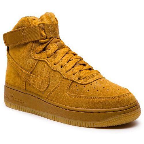 Nike Buty - air force 1 high lv8 (gs) 807617 701 wheat/wheat gum light brown