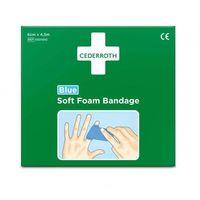 Bandaż z pianki soft foam bandage blue 6 szt x 4,5m marki Cederroth