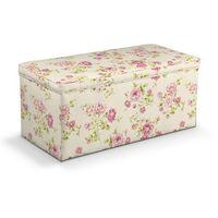 Dekoria Skrzynia tapicerowana, różowe róże na kremowym tle, 120x40x40 cm, Ashley