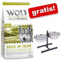Wolf od wilderness, 12 kg + stojak z dwiema miskami stalowymi dla psa gratis! - adult wild hills, kaczka| darmowa dostawa od 89 zł i super promocje od zooplus!| -5% rabat dla nowych klientów marki Wolf of wilderness