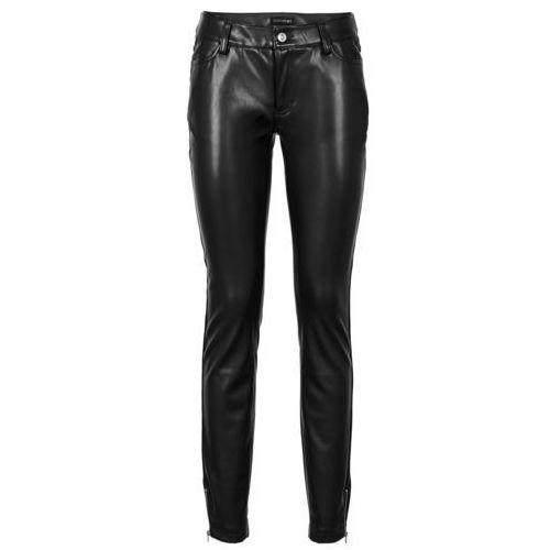 Spodnie ze sztucznej skóry bonprix czarny, poliester